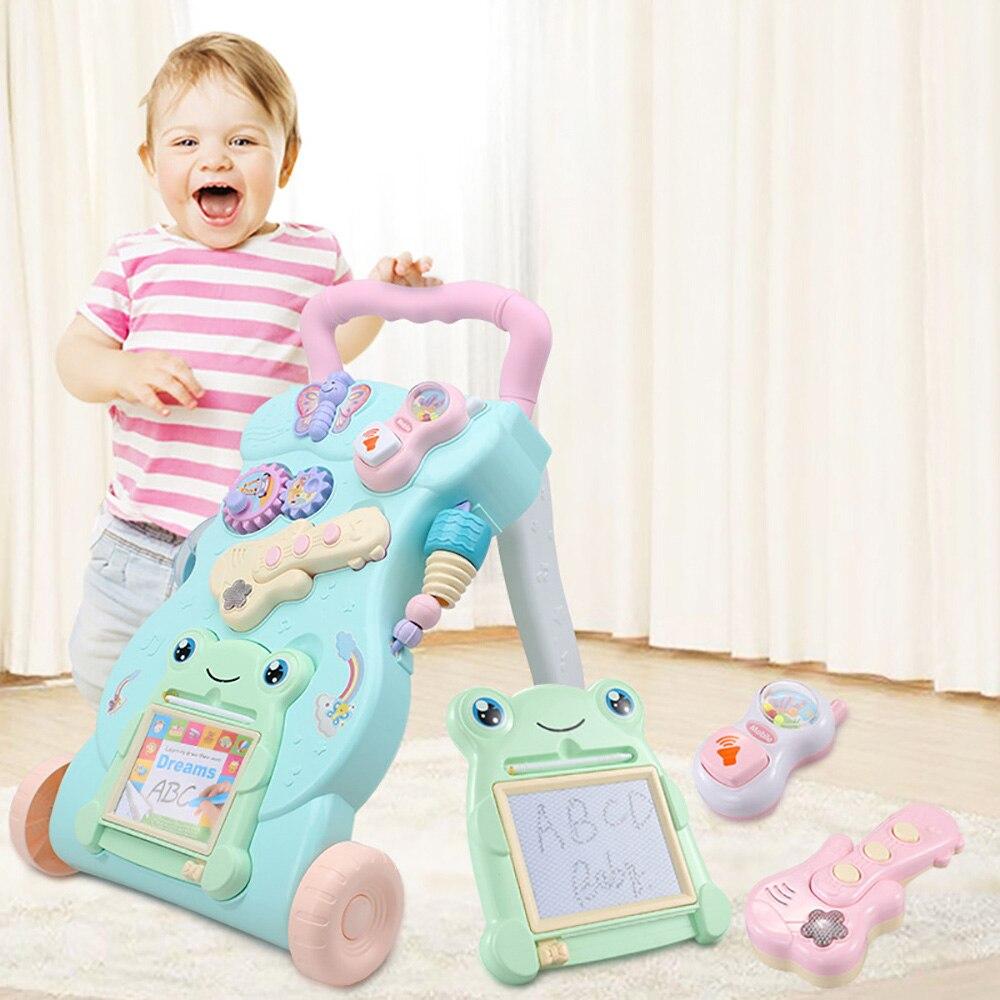 Marchettes bébé sécurité enfant en bas âge avec roues chariot assis sur pied marcheur Musical chariots d'apprentissage aide à la marche premiers pas voiture