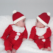 VTOM Autumn Winter Baby Clothes Newborn One Piece Romper +Hats Christmas XMAS Jumpsuit Outfits