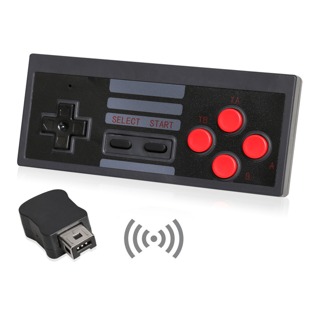Wireless Controller + Receiver Gamepad for Nintendo NES Mini Classic Edition Famicom Mini Console
