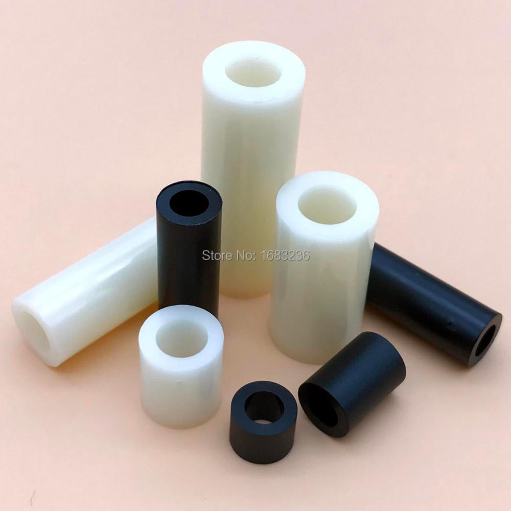 M3-M8 Plastic Nylon Round Non-Thread Column Standoff Spacer Washer Screw Bolt