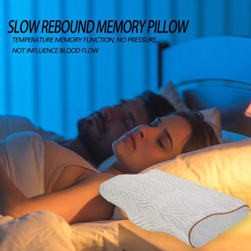 Memory Foam Orthopedic Neck Pillow Slow Rebound Neck Protection Pillows Health Care Travel Bedding Pillow in Travel Pillows from Home Garden