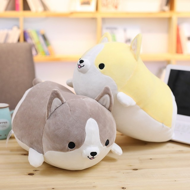 Squishy Corgi Plush Pillow Cute Corgi Dog Doll Pillow Shiba Plush Toy Holding Sleeping Doll Stuffed Animal Pillow Gift For Baby