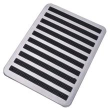 Высококачественный ковер пластины авто пол ковры коврики патч ног пяточный башмак педаль Pad 23,5X16 см