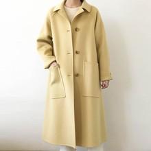 Wool Coat Female Fashion women Woolen Coats High-end Elegant Long Slim Winter jacket Royal Coats&Jackets Plus Size Femininos H44 все цены