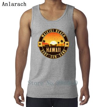 Hawaii Oahu Sun Sand Surfings Beach Vests Slogan Designing Outfit Tank Top Men Sunlight Singlets Funny Casual High Quality 1