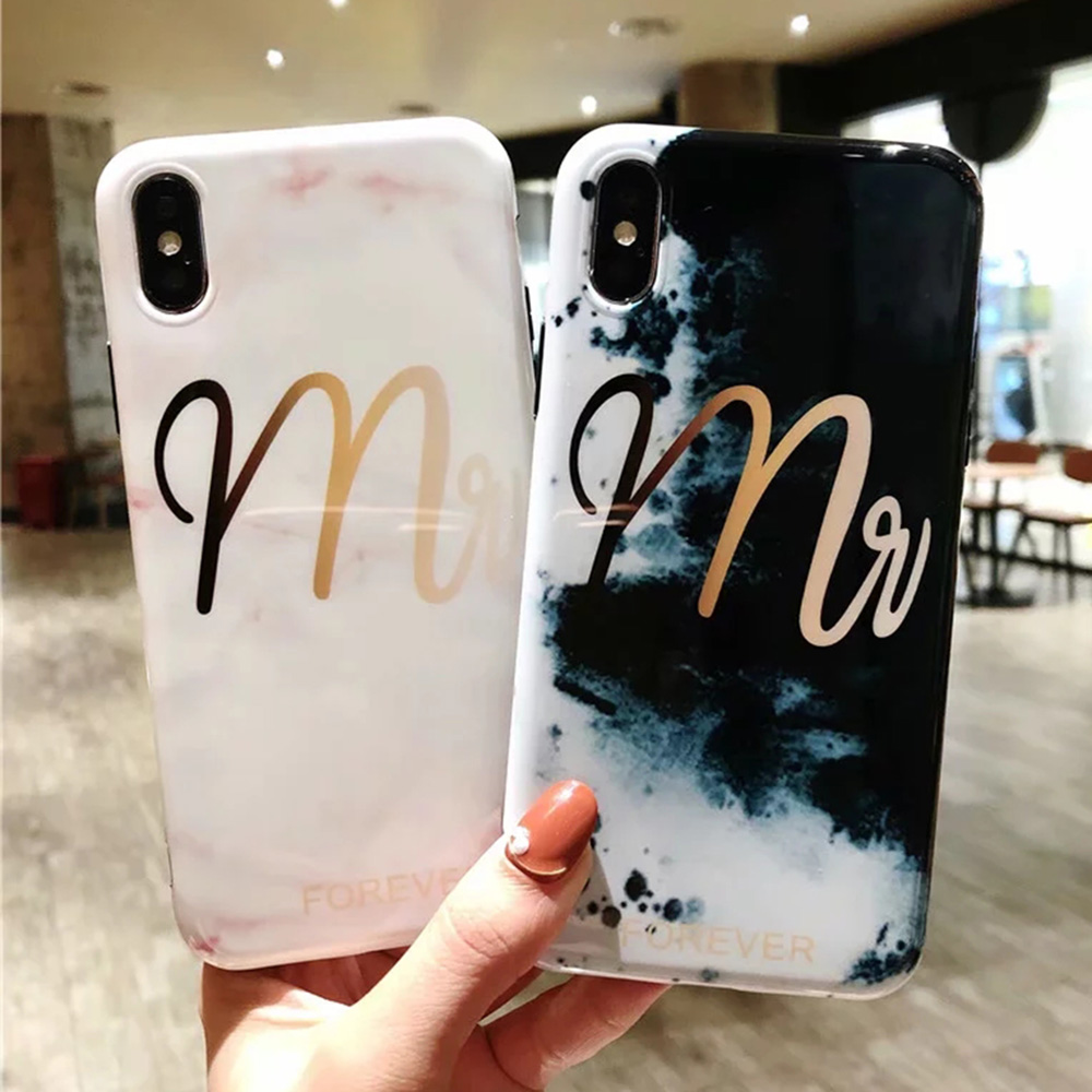 Galleria fotografica Sunforward Luxury Marble Phone Cases For iPhone 7 Soft TPU Cute 360 Case For iPhone 6 6S 8 Plus X 10 XS Max XR Cover Coque
