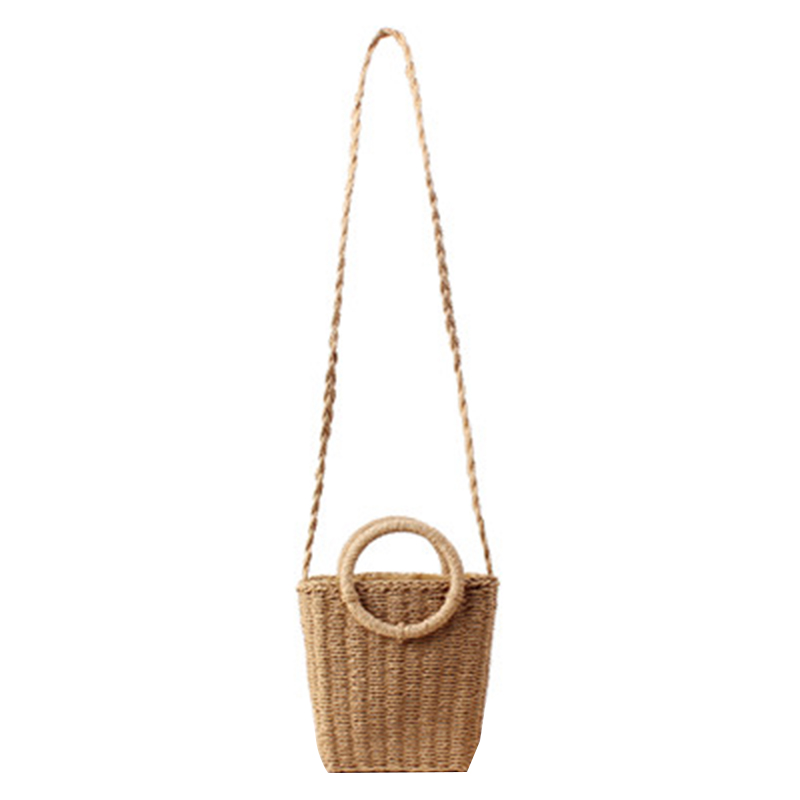 Shoulder Bags Women's Bags Summer Women New Small Fresh Hand Woven Bag In Holiday Beach Straw Bag Female Paper Bag