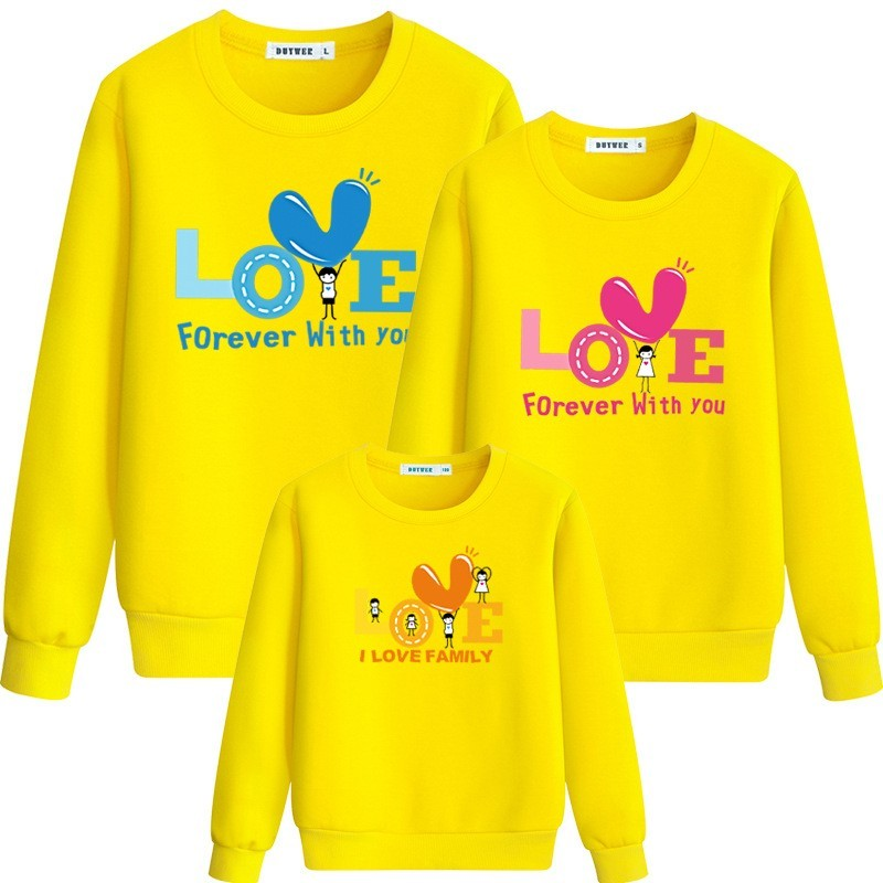 New Arrivals Father or mother-Youngster Outfit Father Mom Boy Informal Sweater Colid Cartoon Plus Measurement Household Matching A02Bp
