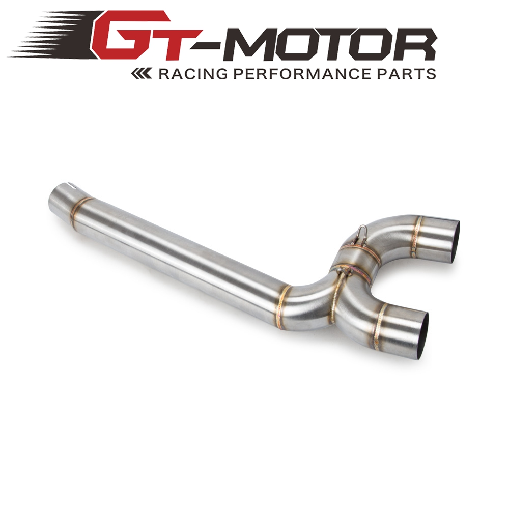Motorcycle Full Exhaust System Middle Pipe Link Connect Motorcycle Accessories For Yamaha FZ6 FZ6N 2004 2005 2006 2007 2008 2009Motorcycle Full Exhaust System Middle Pipe Link Connect Motorcycle Accessories For Yamaha FZ6 FZ6N 2004 2005 2006 2007 2008 2009