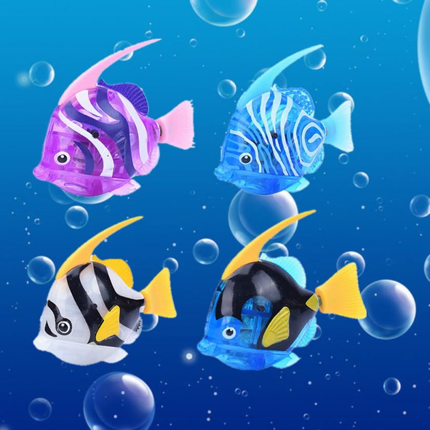 Swimming Robot Fish Activated In Water Magical Electronic Toy Children Interesting Toy For Kid Gift Electronic Pets Bath Toys