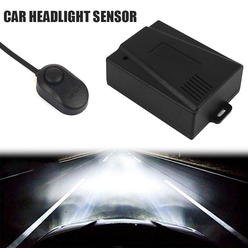 12V Car Headlight Automatic Light Sensor System Controller Multiple Modes Automatic Lighting Response Headlamp Universal