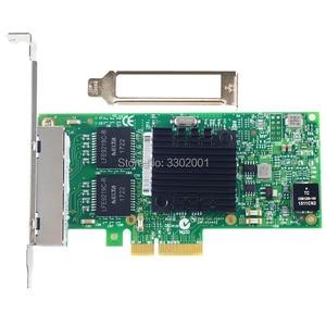 Image 2 - FANMI I350 T4 tarjeta de red Gigabit Ethernet pci express X4, adaptador de servidor intel I350AM4, 4 puertos