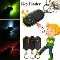 Wireless Anti-Lost Alarm Key Finder Locator Keychain Whistle Sound LED Light Bluetooth Anti-Drop Device