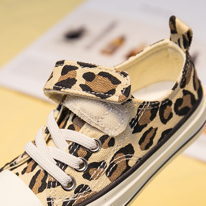 Image 3 - Babaya Children Shoes For Girls Sneakers 2019 Spring New Fashion Kids Canvas Shoes Boys Autumn Student Casual Leopard Shoes