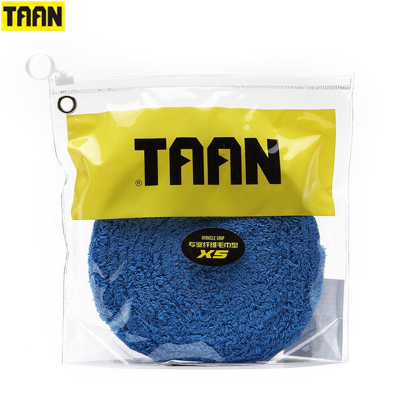 Genuine TAAN X5 Fiber Towel Sweatband Super Soft Grip Feel Towel Adhesive Badminton Racket Hand Glue Tennis Racket Grip