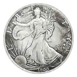 1 шт 1900 Античная Старый белый медный Серебряный для монет иностранных серебряных долларовая Монета Юбилейные монеты