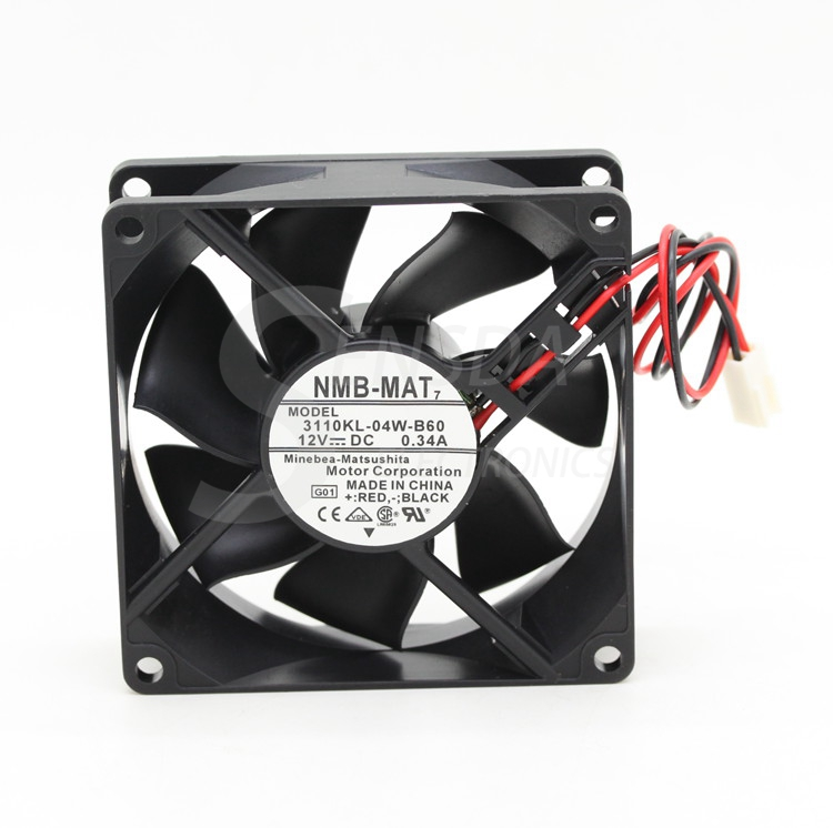 NMB 3110KL-04W-B60 8025 80mm 8cm DC 12V 0.34A computer case cpu server inverter axial cooling fans blower