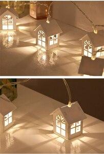 Image 5 - クリスマスライトミニ家形 10 Led 銅線ストリングライト結婚式クリスマスパーティーパティオ妖精ストリングライト