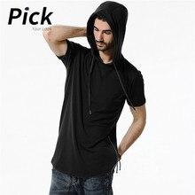 Summer Short Sleeve Man Hoodie Camouflage Sweatshirt Hoodies For Men Tops Slim Fit Streetwear Fashion Mens D40