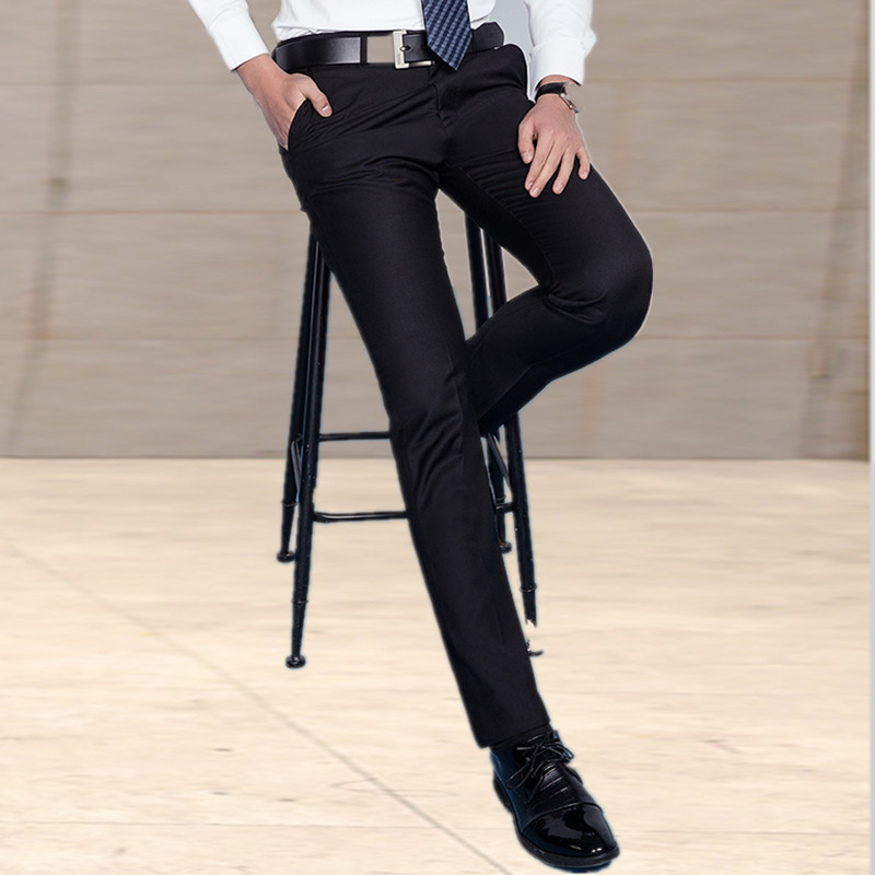 Men 39 s trousers Slim summer thin section black business suit dress pants men work pants straight from hot pantalon homme in Casual Pants from Men 39 s Clothing