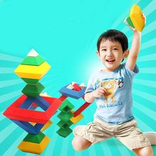 Rhombus Variety Changeable Pyramid Building Blocks Tower Toy Creative Enlightenment Toys for Children 300pcs diy toys baby children straw blocks enlightenment toys plastic stitching assembly straw building blocks kids creative toy