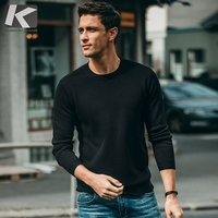Autumn Men Sweater Cotton Green Gray Black Color Pullovers For Man Fashion Slim Fit Clothes 2018 Male Wear Knitted Tops 11867