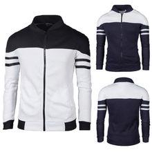 Новая модная мужская куртка, зимняя тонкая толстовка с капюшоном, теплая толстовка с капюшоном, пальто на молнии, верхняя одежда, топы, мужская повседневная куртка, пальто