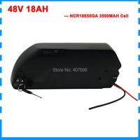 Free custom fee Electric Bike Battery 48V 18AH li ion battery with NCR GA 3500MAH 18650 cells for Bafang 48v 1000w ebike motor
