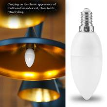 E14 Bulb Retro Style Light Bulb Home Candle Shape LED Light Bulb Lamp AC 220V lampada led(China)
