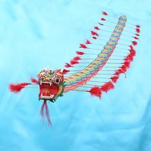 Китайский традиционный Дракон воздушный змей Летающий Пластиковый складной на открытом воздухе одиночный воздушный змей для взрослых спортивные летающие игрушки для детей