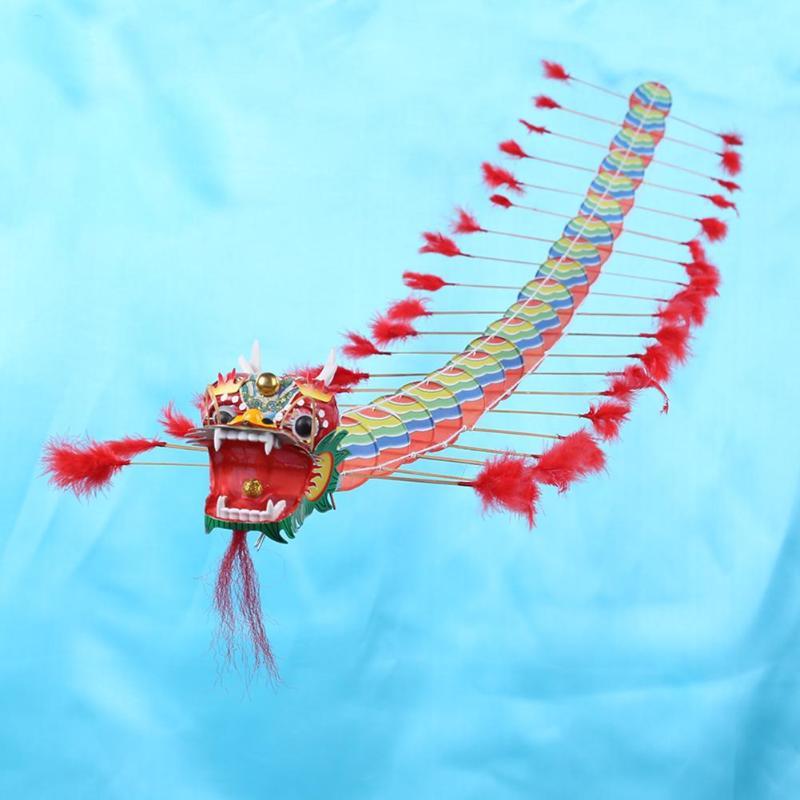 4 m Dragão Chinês Tradicional Pipa Única Linha de Pipa Voando Plástico Dobrável Ao Ar Livre para Adultos Esportes Voando Brinquedos para As Crianças