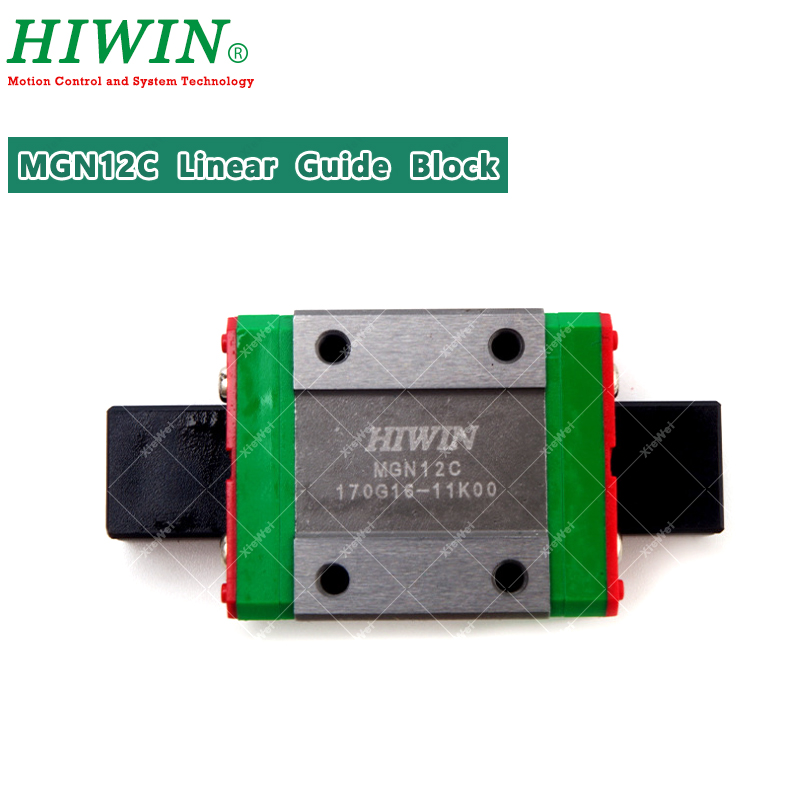 HIWIN MGN12C Linear Guides Carriage  MGN Linear Bearings Fit MGNR12 Linear Guide Rails For CNC Kits
