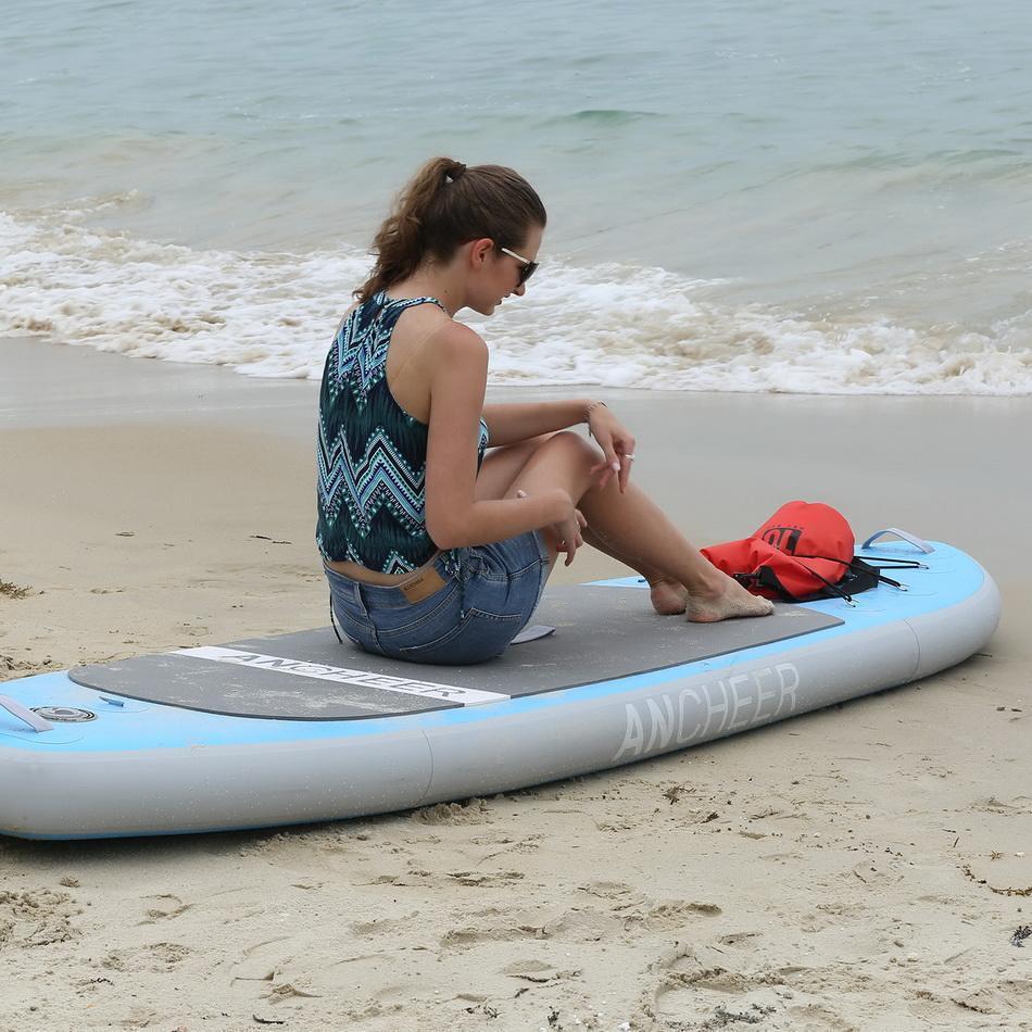 Surf Paddle board 10ft Gonflable stand up Paddle Conseil iSUP Paquet w/Réglable laisse de pagaie Pompe et Sac À Dos Surf ensemble