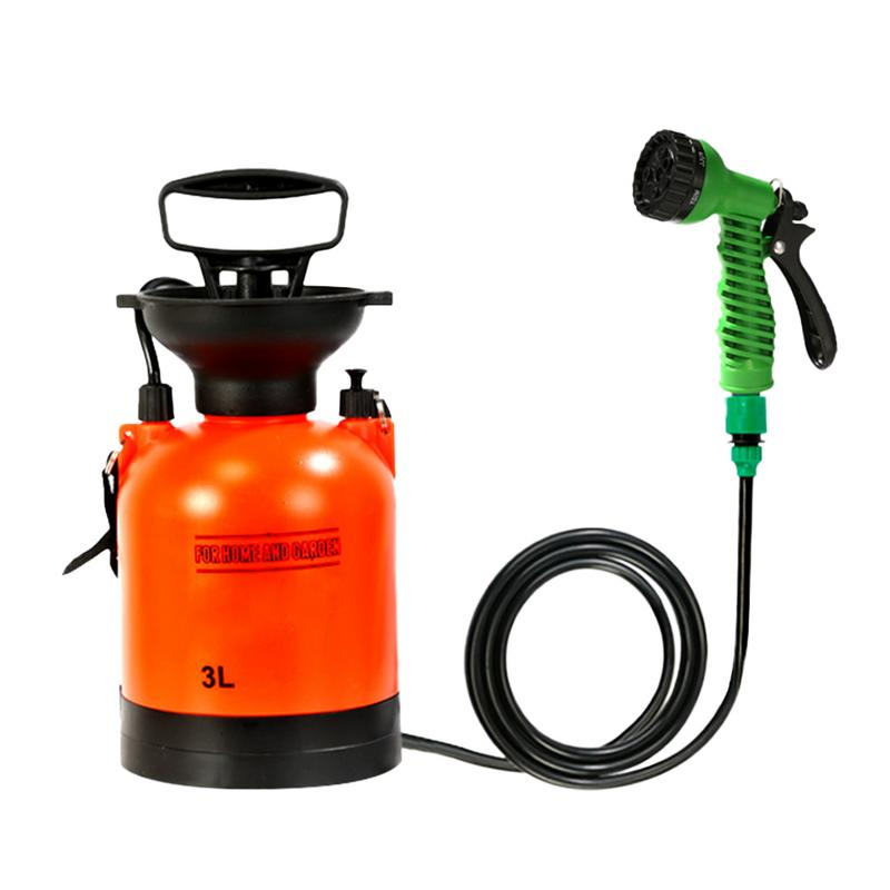 3L Outdoor Camping Shower Sprinklers Portable Multifunction Sprayer Car Wash Small Sprinkler Travel Watering Sprinkler