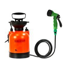 3L outdoor camping shower Sprinklers Portable Multifunction sprayer car wash Small sprinkler Travel watering sprinkler