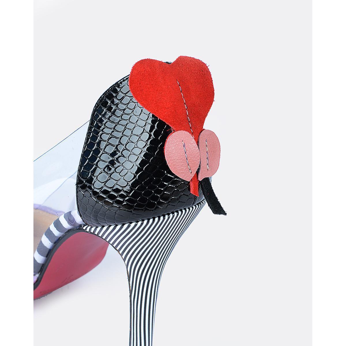De Mujer Piel Tacon Multicolor Cuple Zapatos wqT6tAqpx