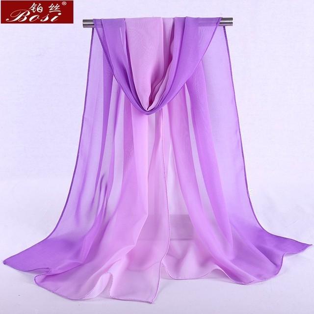 Chiffon scarf gradient women hijab winter brand autumn red long scarfs poncho luxury ladies scarves shawl sjaal long bohemian gg 4