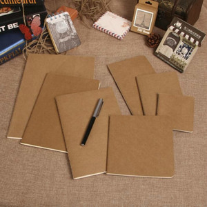 Cowhide Paper Sketchbook Bullet Journal Cute Notebook Paper Weekly Planner Accessories Stationery Diary Agenda Travel 01623