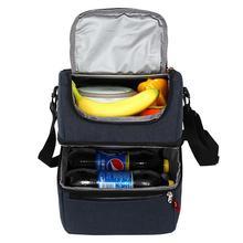 간단하고 세련된 온도 점심 가방 어린이를위한 열 점심 상자 식품 가방 피크닉 가방 핸드백 쿨러 절연 점심 상자