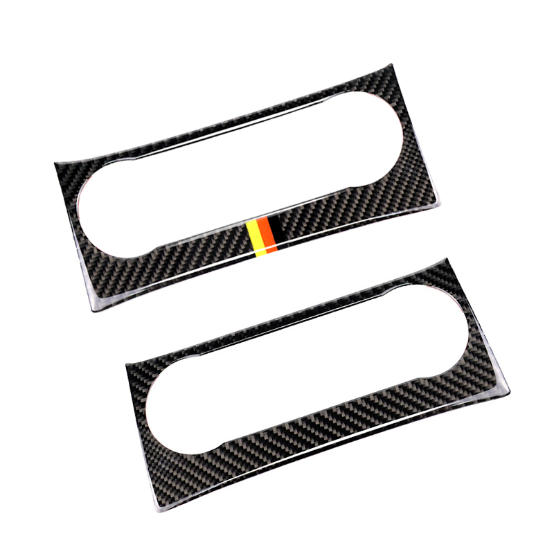 Image 2 - For Mercedes Benz C Class W204 2010 2011 2012 2013 Carbon Fiber Car Air Condition Panel Audio Control Frame Cover-in Interior Mouldings from Automobiles & Motorcycles