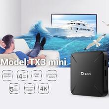 TX3 Mini Android 7.1 Smart TV Box 1+8GB Amlogic S905W Quad Core WiFi H.265 HDMI 4Kx2K Set-top Box Media Player TV Box android