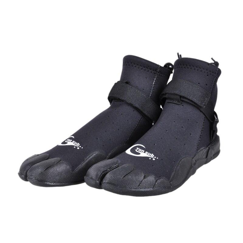 Yon Sub homme femme néoprène bottes de plongée anti-dérapant séchage rapide chaussures de Surf plongée en apnée Wading eau peau chaussures noir