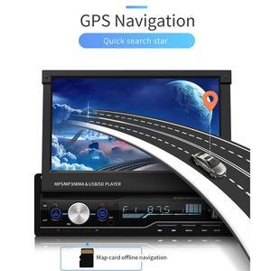 Image 3 - مشغل MP5 راديو للسيارة بشاشة لمس 7 بوصة 1 DIN يعمل بنظام تحديد المواقع للبحث عن بعد جهاز بلوتوث ستيريو قابل للسحب مع دعم لكاميرات الراديو متعددة اللغات