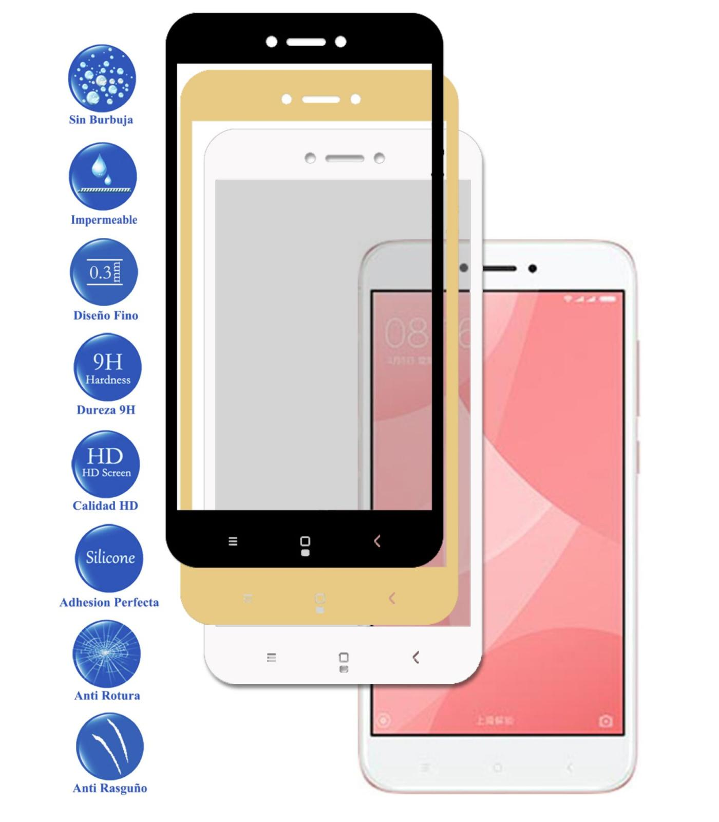 Tempered Glass Protector Full 3D 9 H For Xiaomi Redmi 4X Choose Color