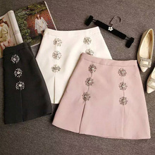 Saia Midi New Arrival Time-limited Skirts Womens Women Skirt A-line Empire Waist Solid Above Knee Mini Length Sweet 2019 Summer цена и фото