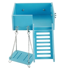 Swing and Ladder Set for Mouse, Chinchilla, Rat, Gerbil and Dwarf Hamster,Climbing Kits for Small Animals