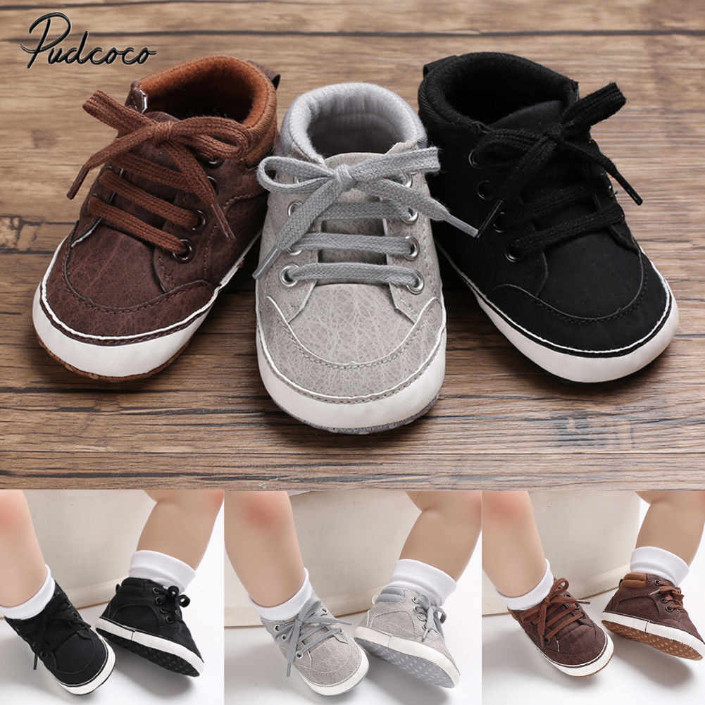 2019 Brand New Infant Baby Girl Shoes Newborn Soft Sole Sneaker Cotton Crib Shoes Sport Casual Warm First Walkers For 0-18month