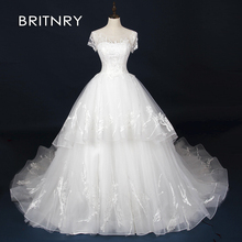 BRITNRY Fshion Ball Gown Vintage Wedding Dress Dresses 2019