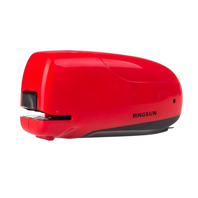 RS Staple Free Automatic Desktop 26/6 Red Electric School Office Home Stapler Book Sewer