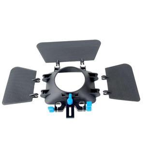 Image 4 - Abs Aluminium 85Mm 3 Blades Camera Matte Box Zonnekap Follow Focus Verstelbare Hoogte Voor 15Mm Slideway Dslr camera 200G